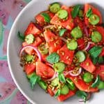 Mexican Watermelon Salad by Michelle Tam https://nomnompaleo.com