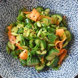 Smashed Cucumber and Carrot Salad by Michelle Tam https://nomnompaleo.com