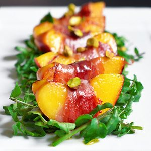 Watercress With Seared Prosciutto + Peaches by Michelle Tam https://nomnompaleo.com