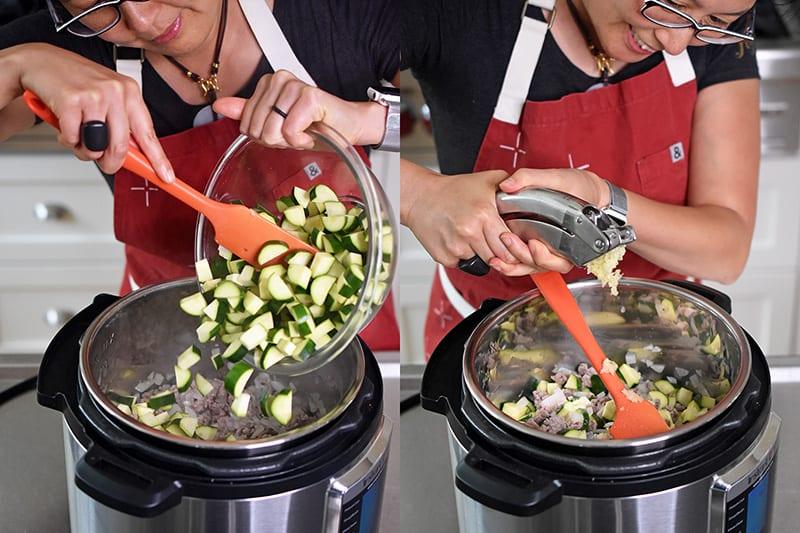 Instant Pot Zucchini Bolognese by Michelle Tam https://nomnompaleo.com