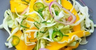 Spicy Mango Cabbage Slaw