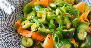 Smashed Cucumber and Carrot Salad