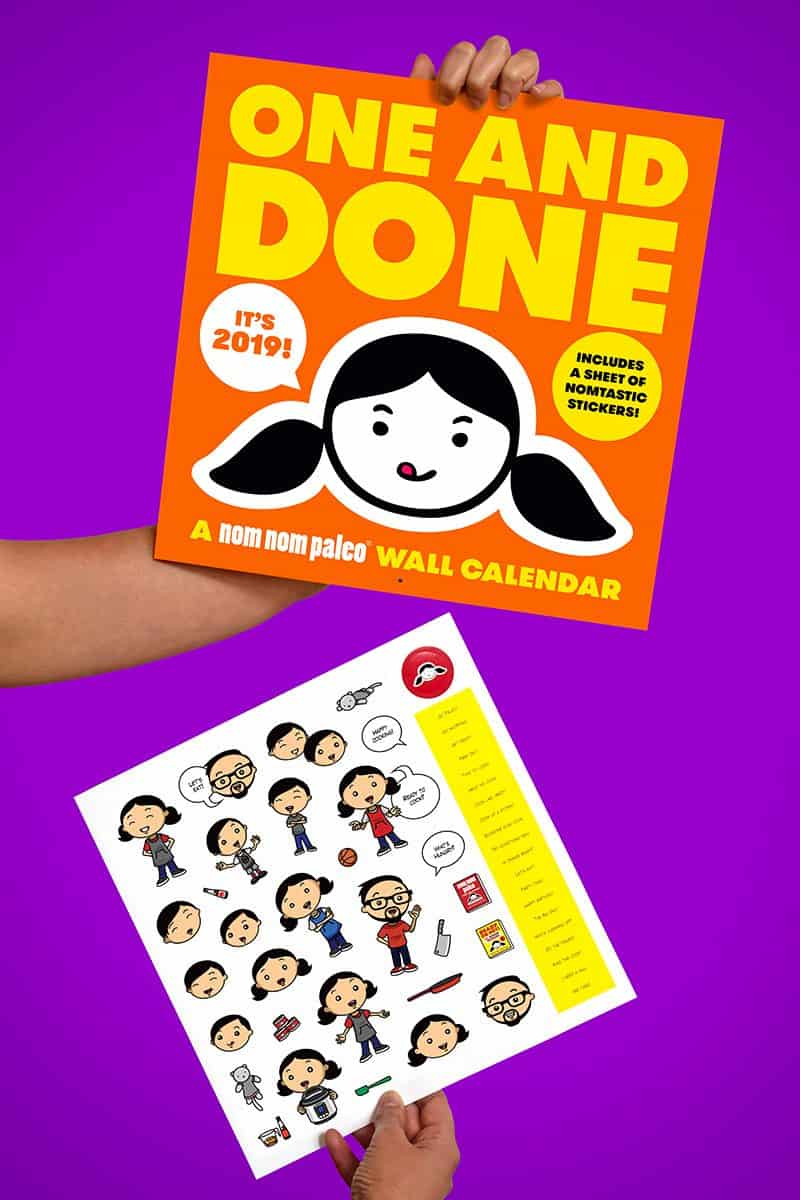 One and Done 2019 Wall Calendar by Michelle Tam https://nomnompaleo.com