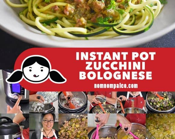 This simple and quick Whole30-friendly Instant Pot Zucchini Bolognese recipe is a riff on Meghan Markle's original version, but a whole lot meatier!