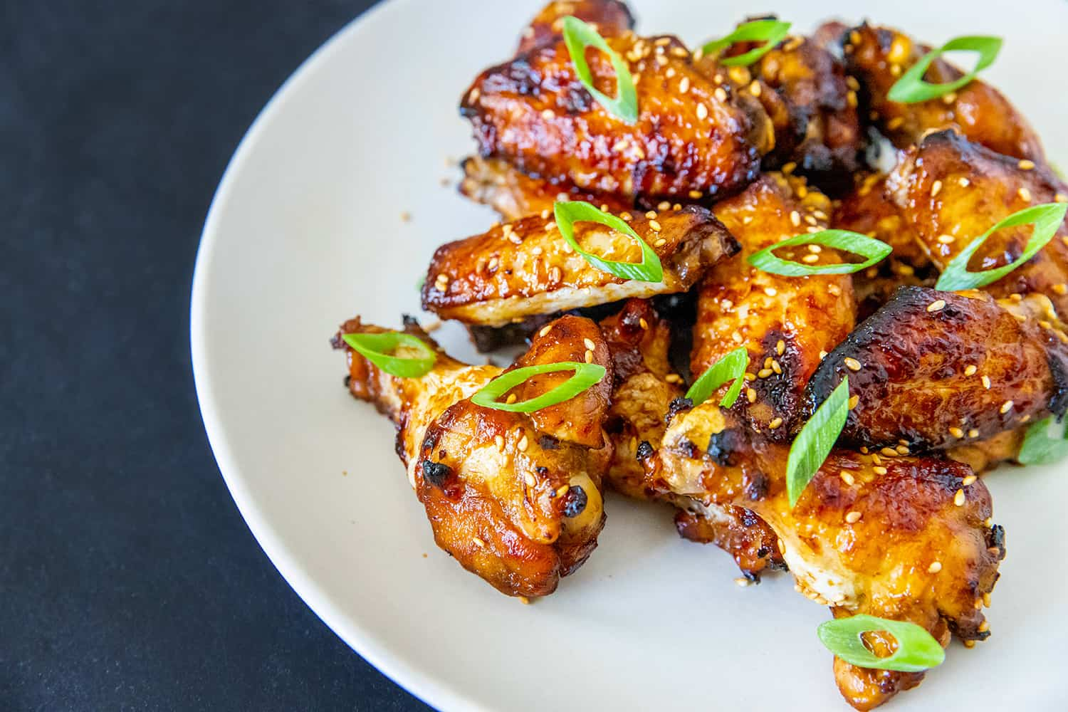 A platter of Whole30-friendly, gluten-free Chinese Chicken Wings