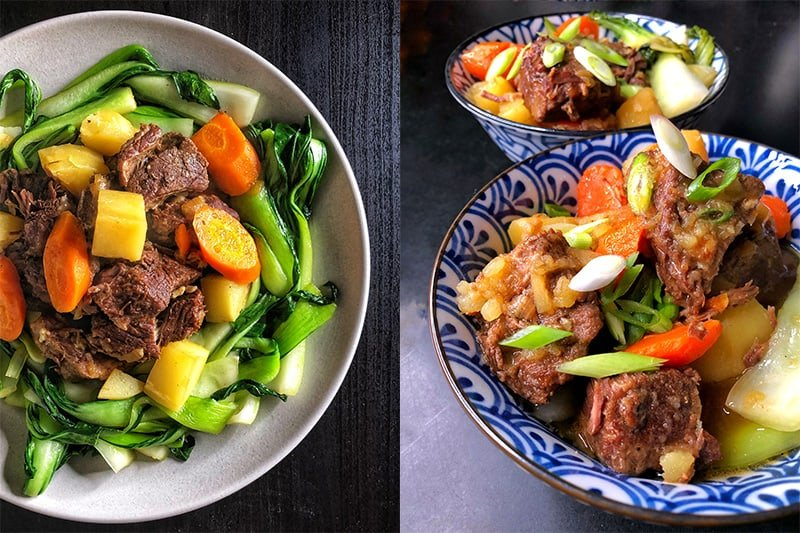 Two stews that use All-Purpose Stir-Fry Sauce as the seasoning