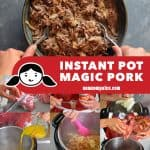 A collage of the cooking steps for Instant Pot Magic Pork