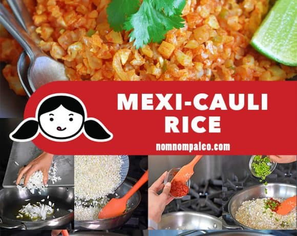 A collage of the cooking steps for Mexi-Cauli Rice