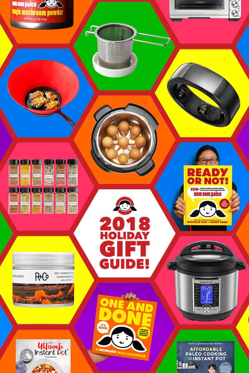 The 2018 Holiday Gift Guide from Nom Nom Paleo contains the best and highly rated gifts for foodies, cooks, Instant Pot fans, and techies!