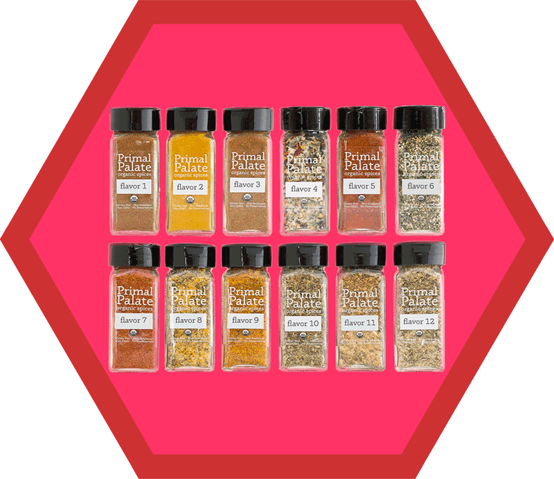 Primal Palate's Spice of the Month Club from the 2018 Holiday Gift Guide by Nom Nom Paleo