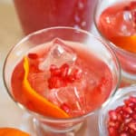 This Whole30-friendly Pomegranate Orange Mocktail is perfect for all your partygoers who want a bubbly and zesty non-alcoholic drink!