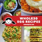 A collage of four Nom Nom Paleo egg recipes!