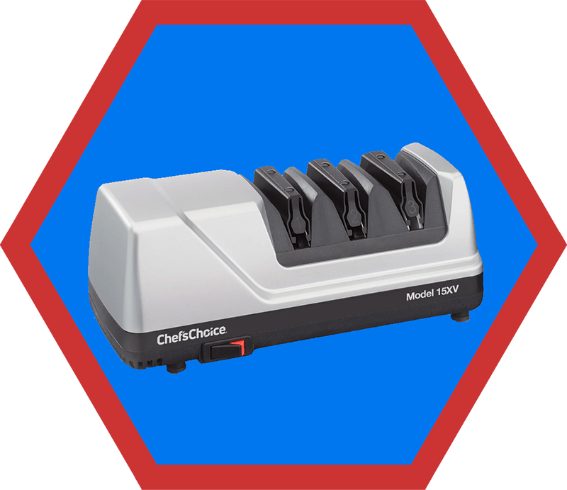 A Chef's Choice 15 Trizor XV EdgeSelect Professional Electric Knife Sharpener, a suggestion on Nom Nom Paleo's 2019 holiday gift guide.