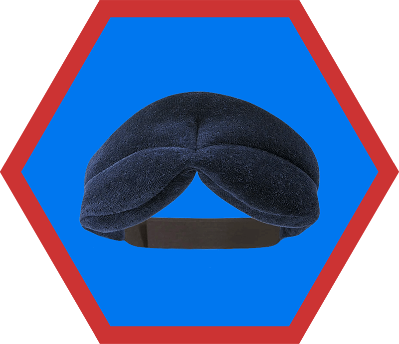 A Tempur-Pedic foam eye mask, an item on Nom Nom Paleo's 2019 holiday gift guide