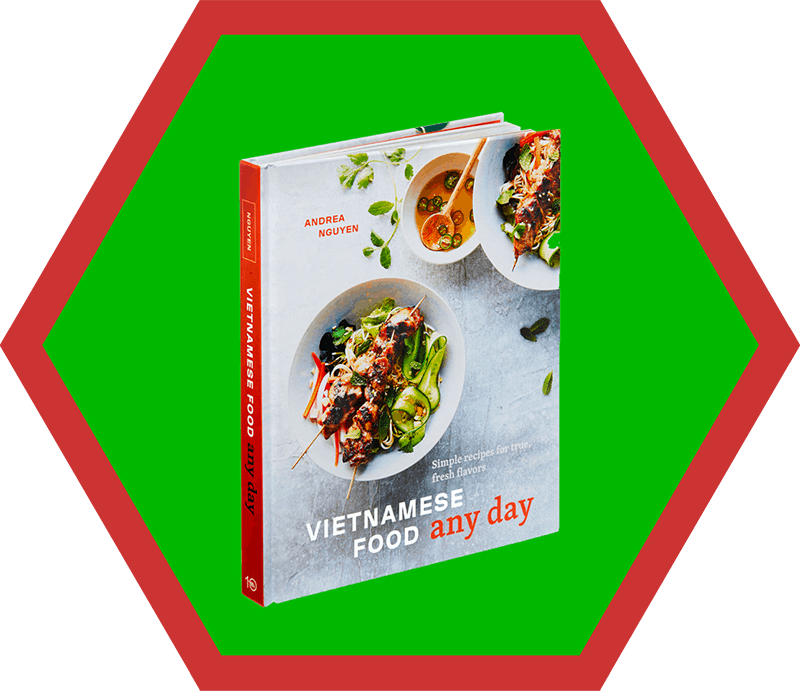 A side angle of Andrea Nguyen's Vietnamese Food Any Day Cookbook, a pick on Nom Nom Paleo's 2019 holiday gift guide