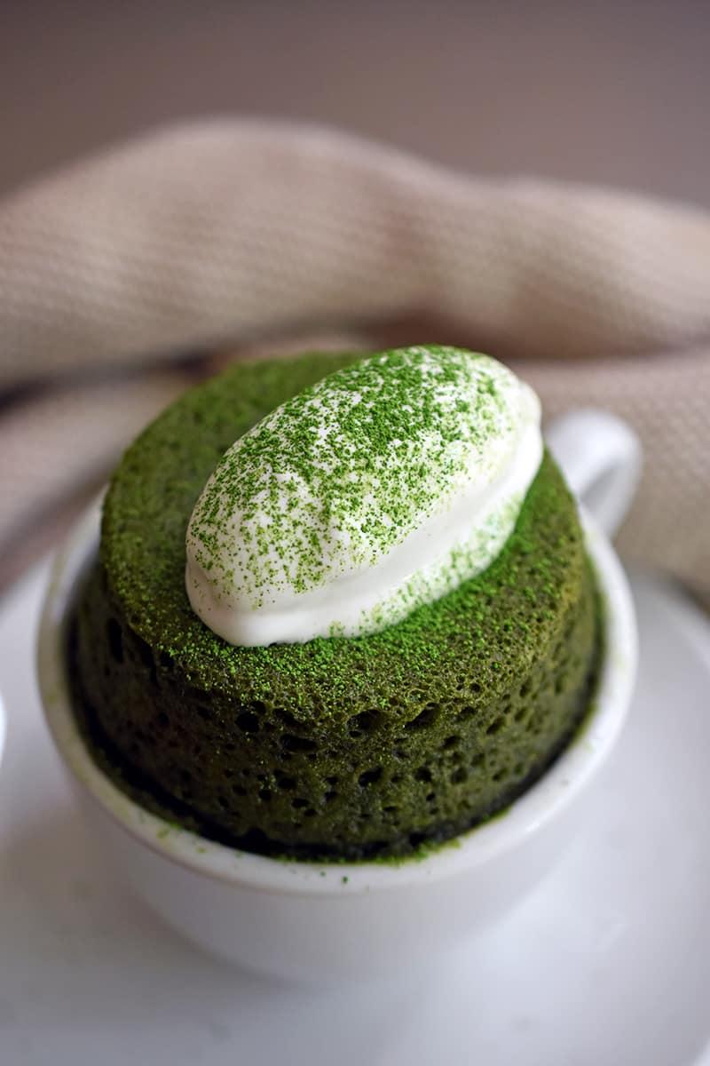 Matcha Mug Cake Paleo Keto Gluten Free Nom Nom Paleo