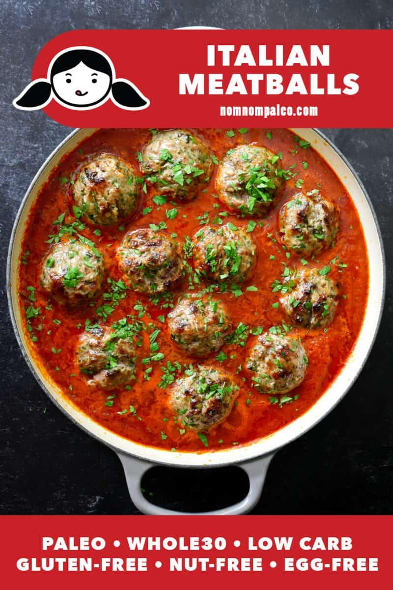 Italian Meatballs (Paleo, Whole30, Gluten Free)